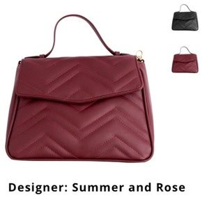 Summer and Rose Burgundy Crossbody Bag